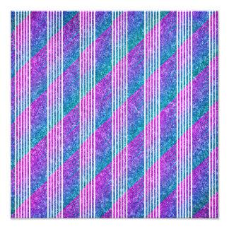Girly Diagonal Stripes Photograph