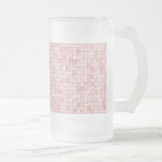 Girly Duo-tone Pink Geometric Decorative Tile Frosted Glass Mug