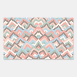 Girly Earth Zigzag Symmetric Peeks Pattern Rectangular Stickers