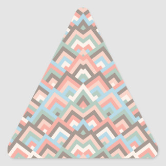 Girly Earth Zigzag Symmetric Peeks Pattern Triangle Sticker