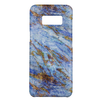Girly Elegant Blue Gold Marble Blingy Chic Case-Mate Samsung Galaxy S8 Case