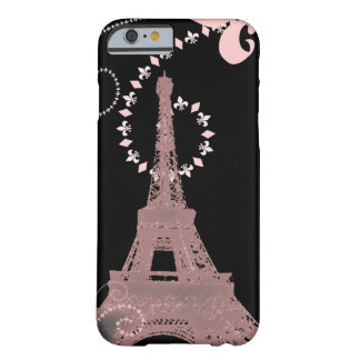 girly elegant pink eiffel tower paris vintage barely there iPhone 6 case