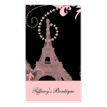 girly elegant pink eiffel tower paris vintage pack of standard business cards