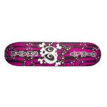 Girly Emo Skull Skate Deck