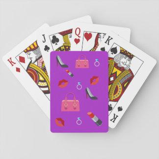 Girly Emoji Playing Cards