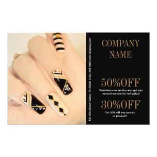 girly fashion beauty nail artist nail salon 14 cm x 21.5 cm flyer