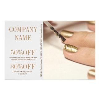 "girly fashion beauty nail artist nail salon 5.5"" x 8.5"" flyer"
