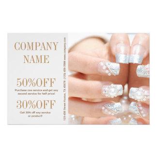 girly fashion beauty silver nail artist nail salon 14 cm x 21.5 cm flyer