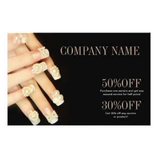 girly fashion beauty SPA nail artist nail salon Flyer Design