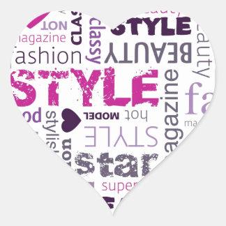 Girly Fashion Love Purple Pink Heart Sticker