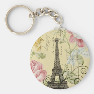 girly fashion paris eiffel tower vintage key chain