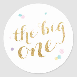 Girly First Birthday Sticker