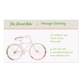 Girly Floral Bike Double-Sided Standard Business Cards (Pack Of 100)