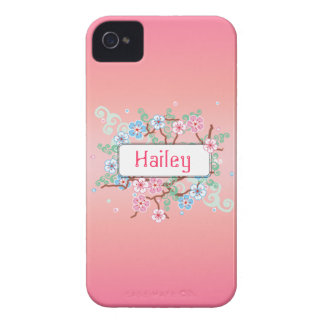 Girly Floral Personalized iPhone 4 Case-Mate Cases