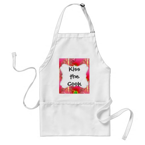 Girly Floral Swirl Hot Pink Green Gifts for Her Aprons