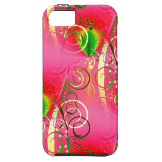 Girly Floral Swirl Hot Pink Green Gifts for Her Case For The iPhone 5
