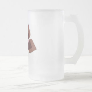 girly-flower frosted glass mug