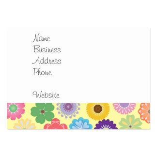 Girly Flower Power Colourful Floral Pattern Pack Of Chubby Business Cards