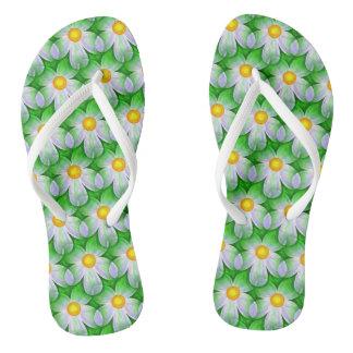 Girly Flowers Design Flip Flops