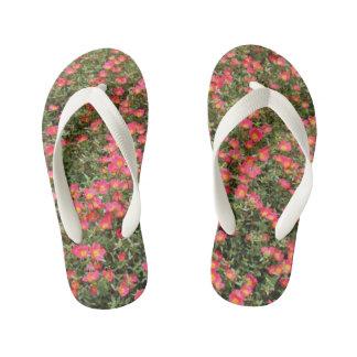 Girly Flowers Kid's Thongs