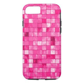 Girly Fuchsia Geometric Decorative Tile Pattern iPhone 7 Case