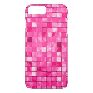 Girly Fuchsia Geometric Decorative Tile Pattern iPhone 7 Plus Case