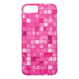 Girly Fuchsia Geometric Decorative Tile Pattern iPhone 8/7 Case