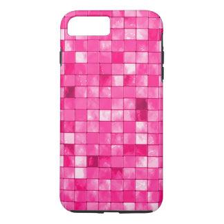 Girly Fuchsia Geometric Decorative Tile Pattern iPhone 8 Plus/7 Plus Case