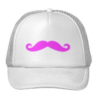 Girly Fuchsia Pink Mustache Trucker Hats