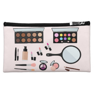Girly full makeup set medium cosmetic bag