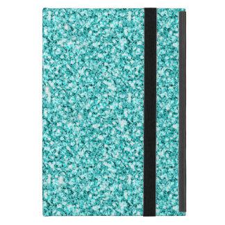 Girly, Fun Aqua Blue Glitter Printed Cover For iPad Mini