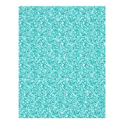 Girly, Fun Aqua Blue Glitter Printed Flyers
