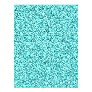 Girly, Fun Aqua Blue Glitter Printed Custom Flyer