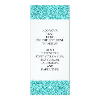 Girly, Fun Aqua Blue Glitter Printed Personalized Invite