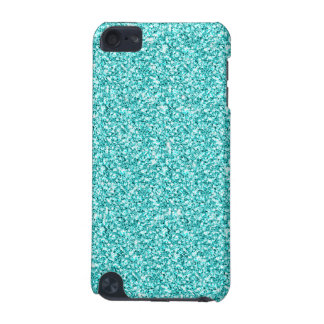 Girly, Fun Aqua Blue Glitter Printed iPod Touch 5G Case