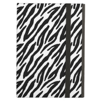 Girly Fun Black Zebra Stripes Pattern iPad Air Case
