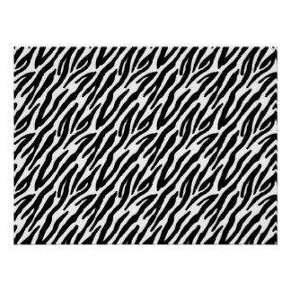 Girly Fun Black Zebra Stripes Pattern Print