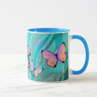 Girly Gift! Butterfly Mug, Add NAME! Mug
