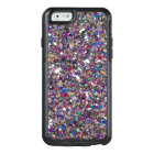 Girly Girl Glitter Pink Purple Blue White Sparkles OtterBox iPhone 6/6s Case