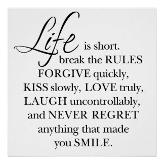"""Girly-Girl-Graphics Life Quote Poster 24"""" x 24"""""""
