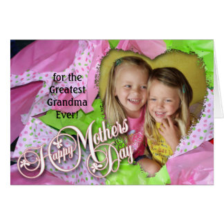 Girly Girl Heart Mothers Day Blank Card