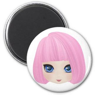 Girly Girl Marianne Round Magnet