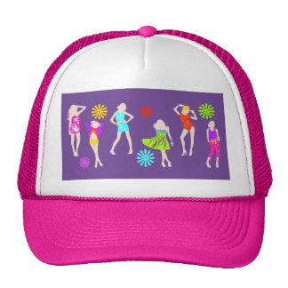 Girly girls fashion models mesh hat