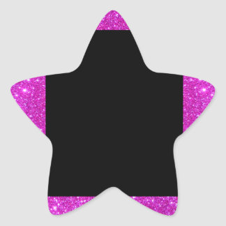 Girly Glam Black with Sparkly Pink Glitter Frame Sticker