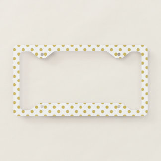Girly Glitter Gold Polka Dots Pattern Monogram
