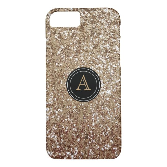 Girly Glitter Monogram iPhone 8/7 Case