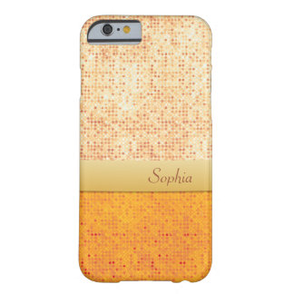 Girly Glittery Orange Polka Dot iPhone 6 case Barely There iPhone 6 Case