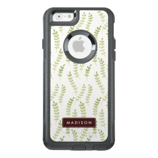 Girly Green Leaves Pattern OtterBox iPhone 6/6s Case