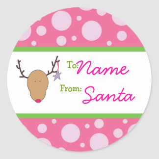 Girly Gril Santa Sticker