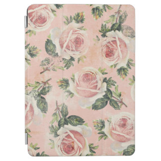 Girly Grungy Pink Roses iPad Air Cover
